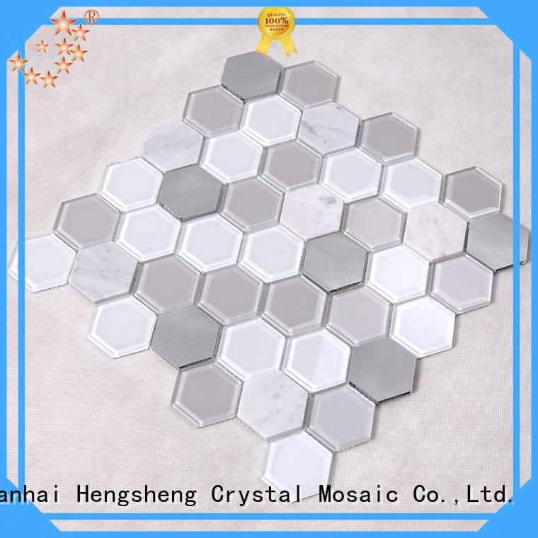 spray sea glass tile customized for kitchen