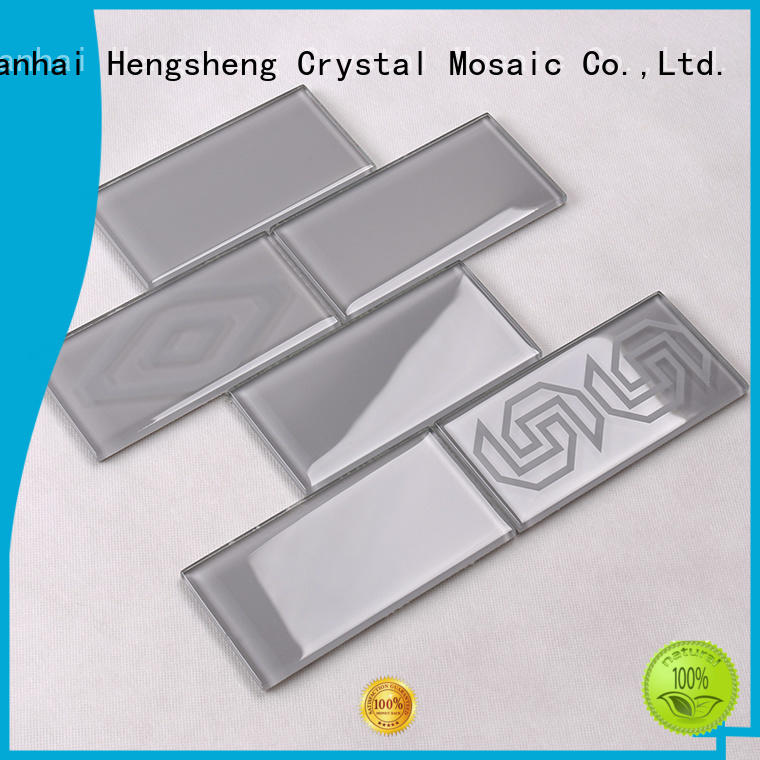 metal mosaic wall glass mosaic tile Hengsheng