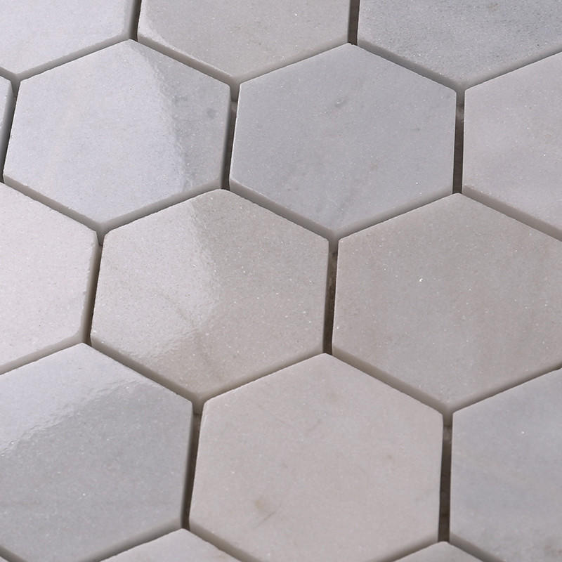 Heng Xing-Manufacturer Of Stone Mosaic Tile 2x2 White Hexagon Carrara Stone Mosaic-2