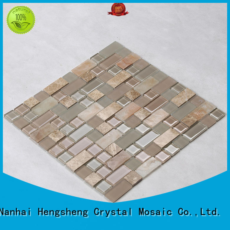 Heng Xing 3x3 glass backsplashes for kitchens factory price for living room