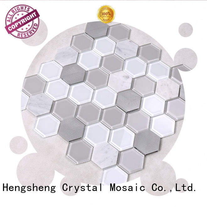 Heng Xing Brand crystal swimming splash custom swimming pool mosaics