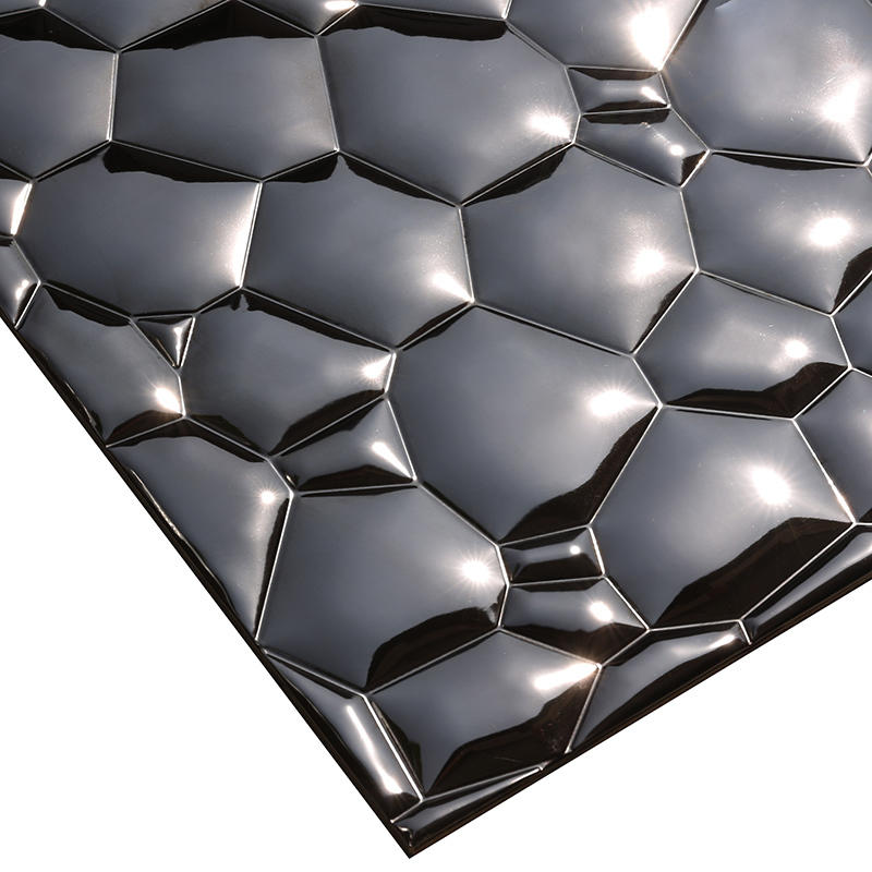 Heng Xing-3D Black Water Cube Stainless Steel Metal Mosaic for bedroom HSW18181