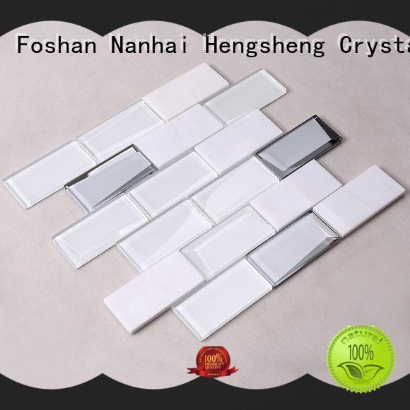square glass metal backsplash supplier for villa Heng Xing