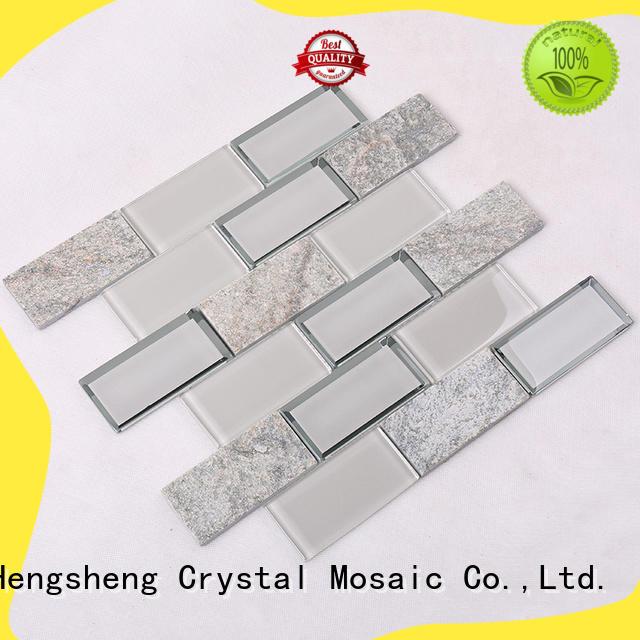Heng Xing beveled kitchen backsplash designs grey for villa