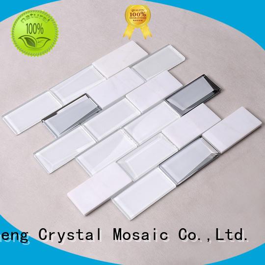light glass metal mosaic tile manufacturer for villa Heng Xing