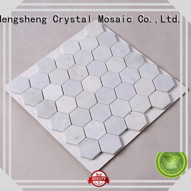 Hengsheng Brand carrara 2x2 stone tile backsplash black
