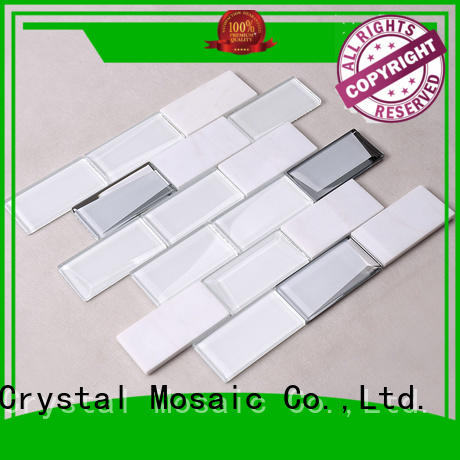 tile gold white Heng Xing Brand glass mosaic tile supplier
