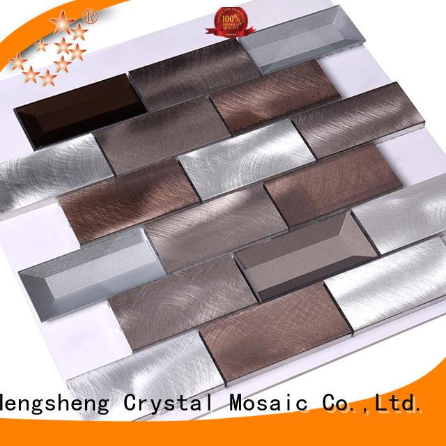 cube Custom diamond metal mosaic gold Heng Xing
