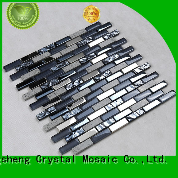 printing mix gold OEM glass mosaic tile Hengsheng