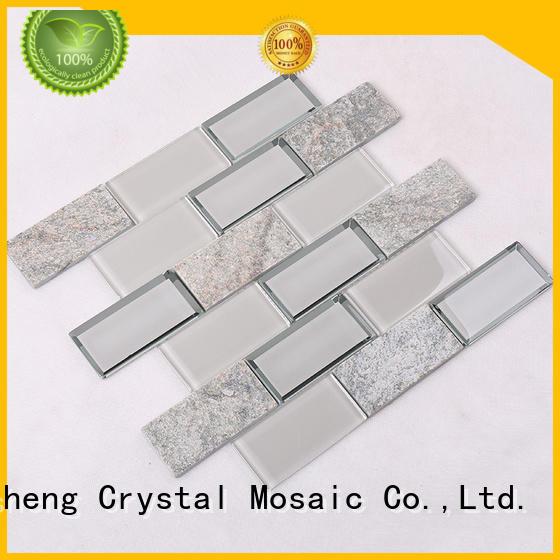 strip swimming pool mosaics hexagon backsplash Heng Xing Brand