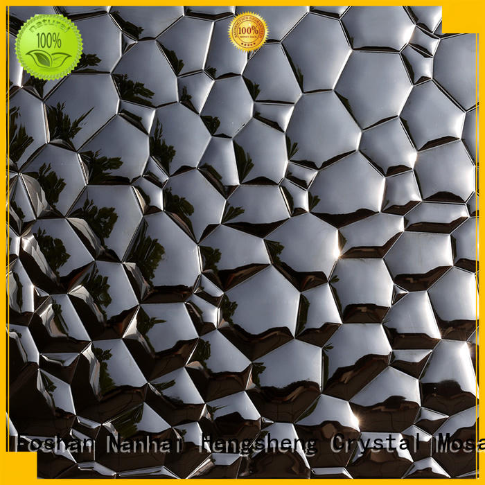 3x6 metal mosaic backsplash customized for living room