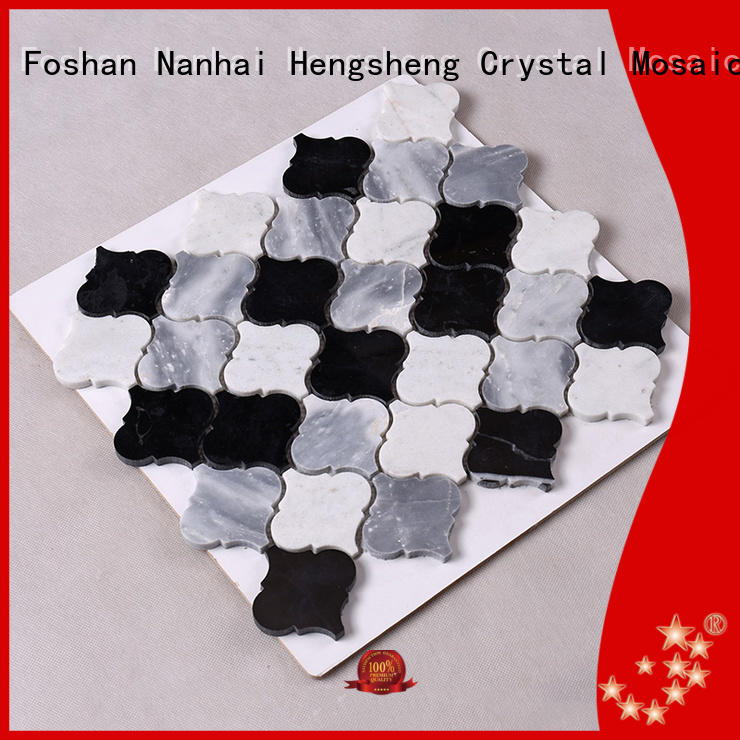 Hot stone tile backsplash white Heng Xing Brand