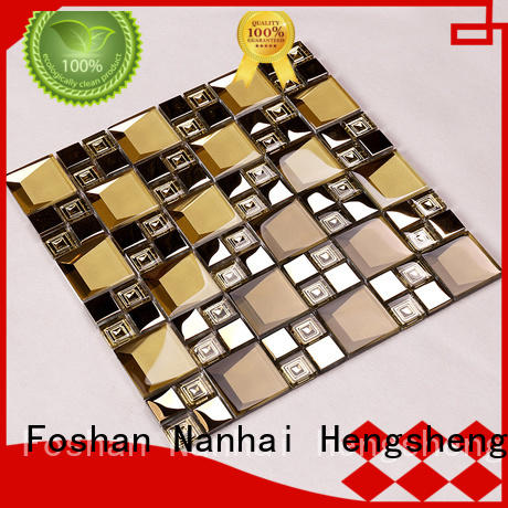 pattern glass metal backsplash factory price for bathroom Heng Xing