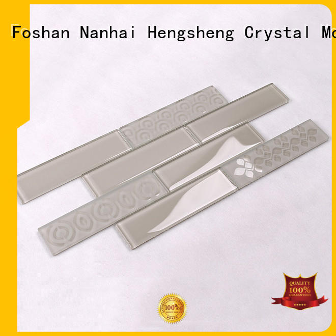 light Custom metal glass mosaic tile decor Heng Xing