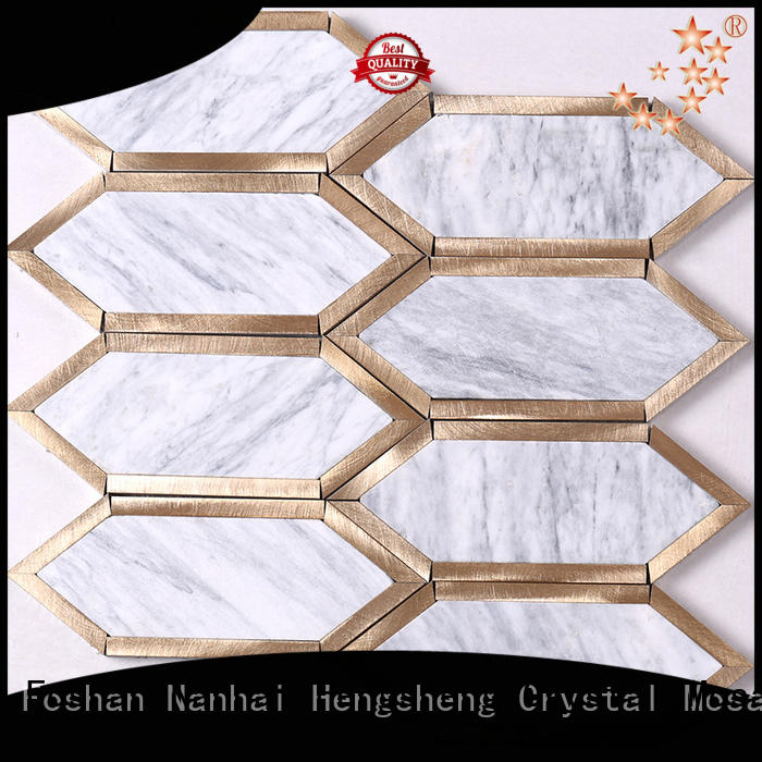 2x2 stone mosaic tile metal with good price for kitchen