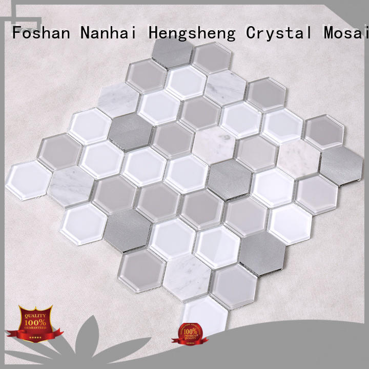 kitchen white Heng Xing Brand swimming pool mosaics