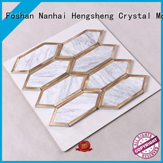 gray stone mosaic wall tiles supplier for villa Heng Xing