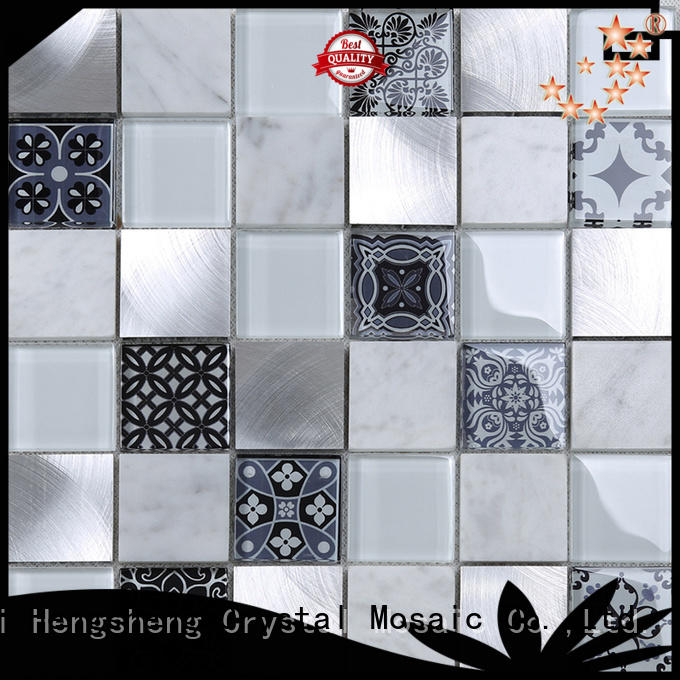Heng Xing 3x4 iridescent glass tile factory for kitchen