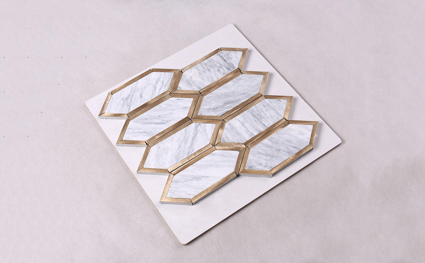 2x2 stone mosaic tile metal with good price for kitchen-1