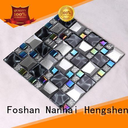 glass tiles for kitchen square metal Hengsheng Brand