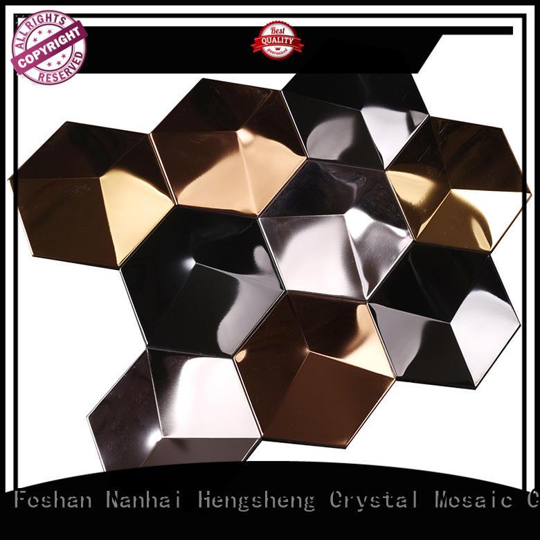 3d wall metal mosaic 3x6 Heng Xing Brand company