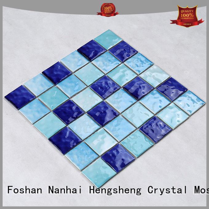 2x2 pool glass tile Heng Xing