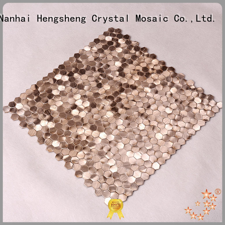 metal mosaic tile in shower brown for living room Heng Xing