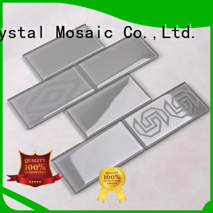 beveled glass mosaic tile sheets supplier for kitchen