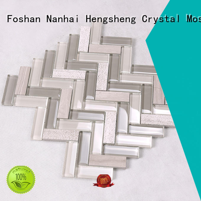 mosaic glass cold for living room Heng Xing