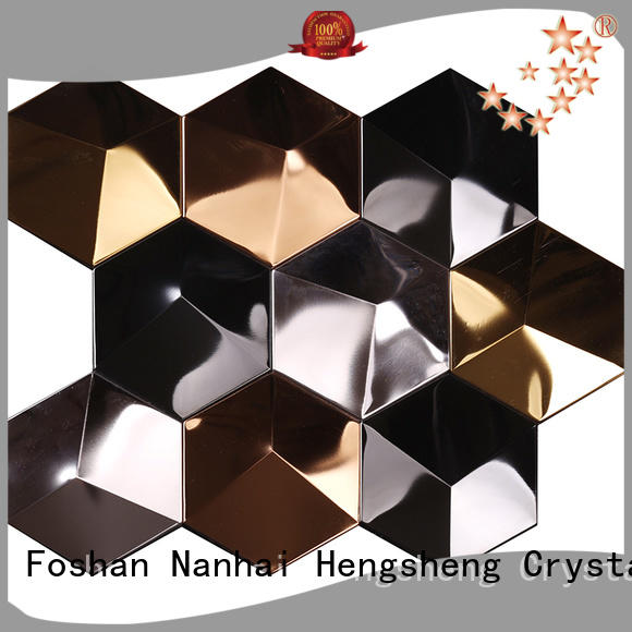 Heng Xing brown linear mosaic tile customized for bathroom