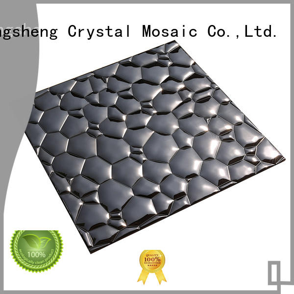 golden grey metal mosaic wall Hengsheng Brand