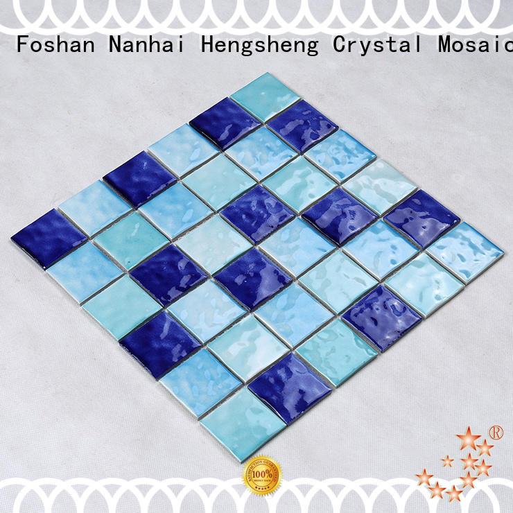 tile tans crystal Hengsheng Brand pool tile supplier
