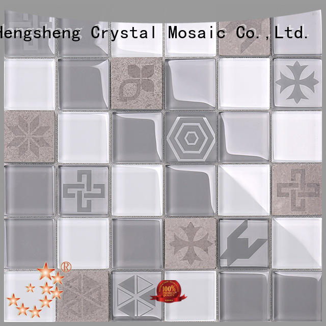 High-quality clear glass mosaic tiles hexagon company for kitchen