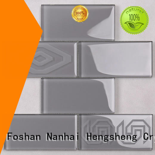 Heng Xing square glass wall tiles for kitchen wholesale for hotel