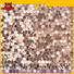 Heng Xing golden black metallic mosaic tiles water for villa