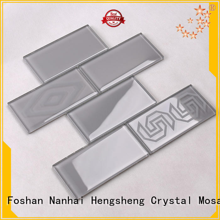rose gold beveled glass mosaic tile stone Hengsheng Brand