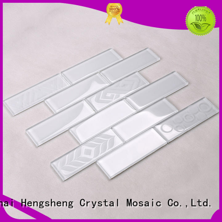 Hot gold glass tiles for kitchen 3x4 Heng Xing Brand