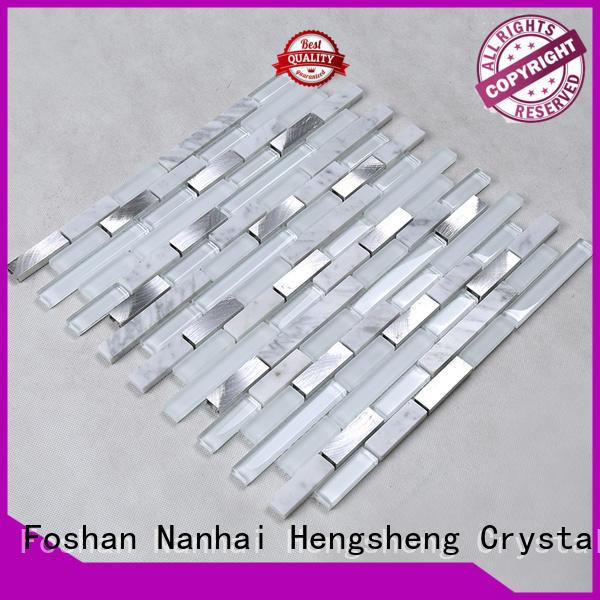 white rose Hengsheng Brand glass mosaic tile