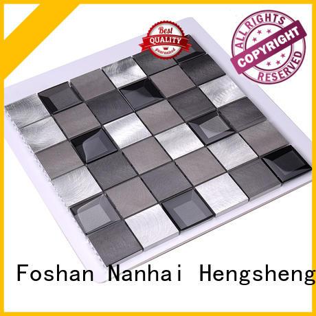 Hengsheng Brand 2x2 bedroom metal mosaic manufacture