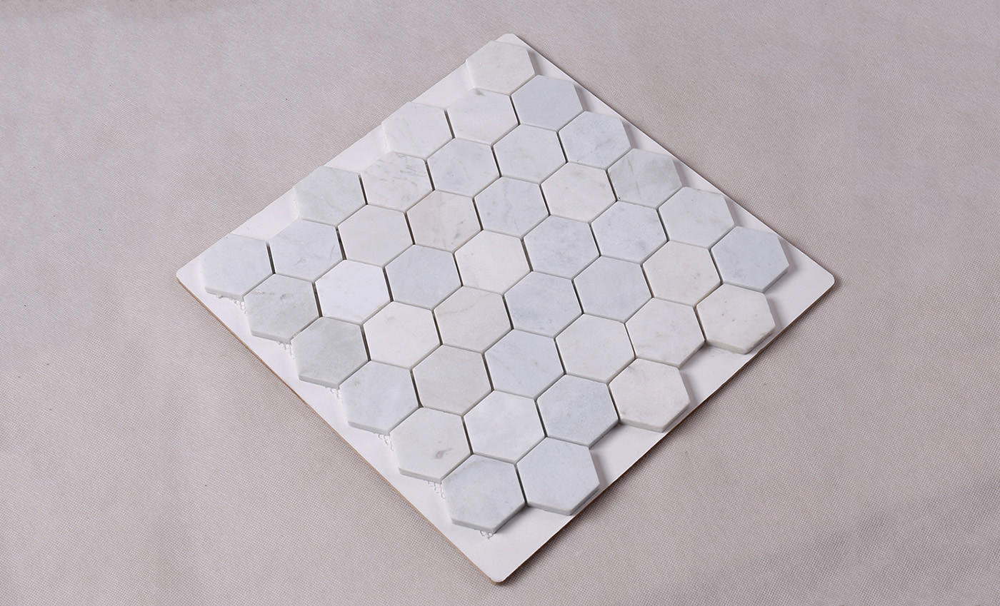 Heng Xing-Manufacturer Of Stone Mosaic Tile 2x2 White Hexagon Carrara Stone Mosaic