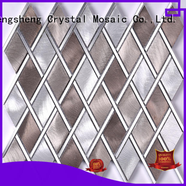 professional metal backsplash hexagon from China for living room
