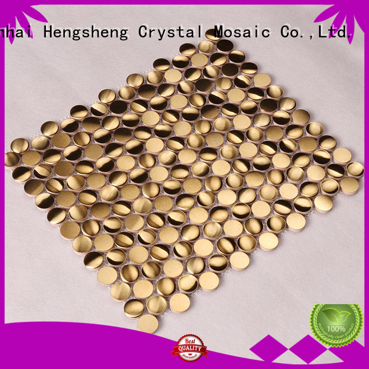 stainless bedroom decoration metal mosaic Hengsheng Brand company