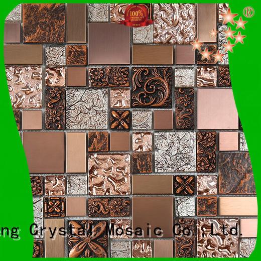 Heng Xing herringbone sea glass tile wholesale for living room