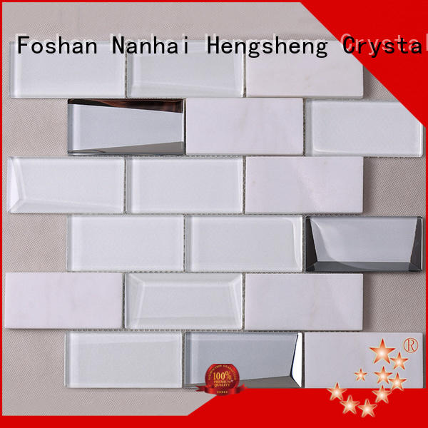 Heng Xing 3x4 black glass tile personalized for bathroom