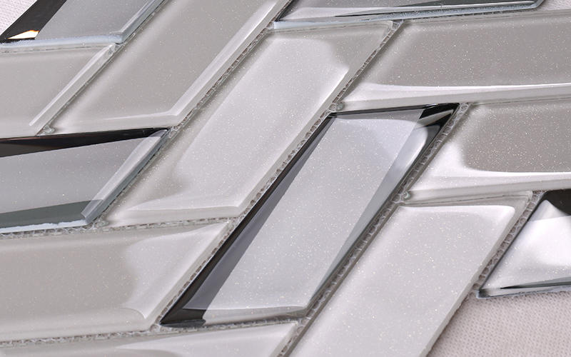 Heng Xing beveled clear glass tiles decor for living room-2