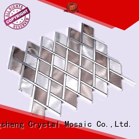 gold metallic subway tile backsplash 2x2 for living room Heng Xing