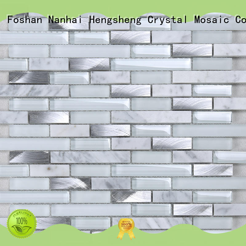 beveled sea glass tile sand supplier for hotel