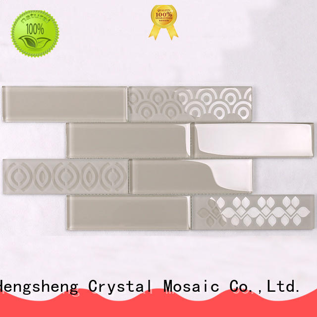 Heng Xing beveling oceanside glass tile wholesale for kitchen