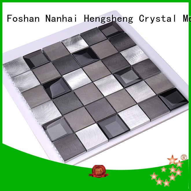Heng Xing luxury metal mosaic tile 2x2 for kitchen