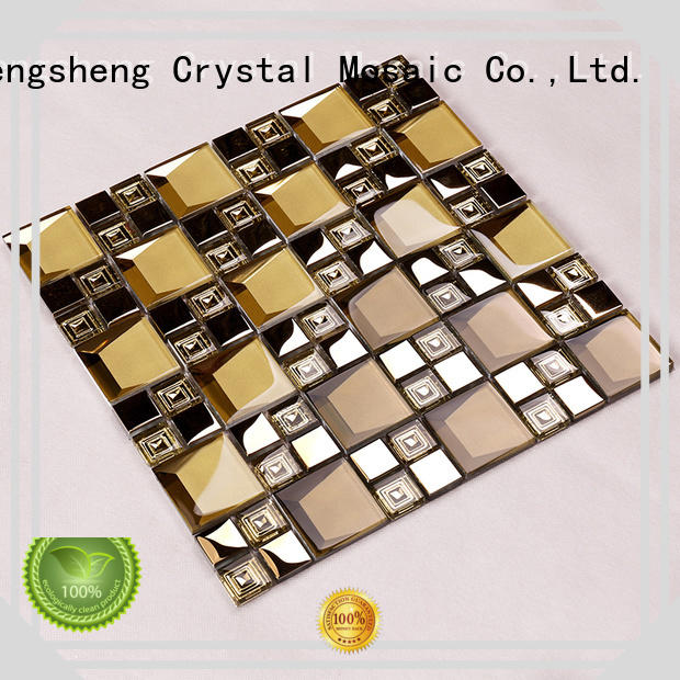 home jy025 glass mosaic tile mix Hengsheng Brand company
